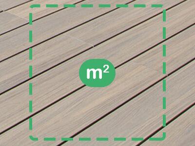 Vlonderplanken per m²