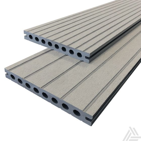 Vlonderplank Stone Grey Superieur Composiet 400x14,5x2,1 cm