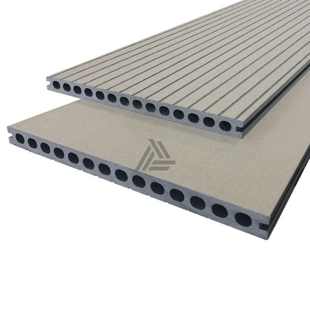 Vlonderplanken Stone Grey Superieur XL Composiet 400x30x2,2 cm (per m²)