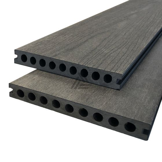 Vlonderplanken Charcoal Composiet Co-extrusion 400x20x2,3 cm All-in (per m²)