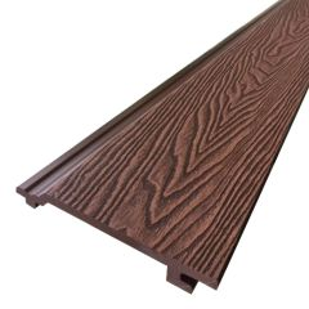 Rabatdeel Dark Brown Houtnerf Composiet 220x15,6x2,1 cm