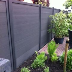 Outlet | Forte Tuinscherm Antraciet Composiet 180x180 cm