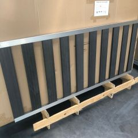 Outlet | Tuinhek Composiet H80xB180cm in aluminium U- frame