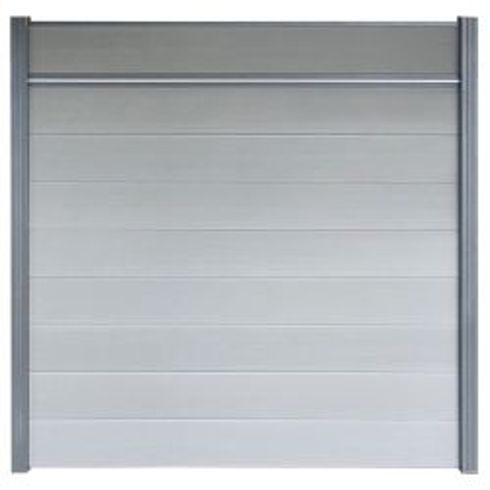 Modulair schutting stapel schutting grijs Stone Grey 180x180 cm